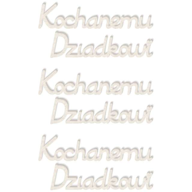 """Scrapki beermata """"Napis Kochanemu Dziadkowi"""", 129x15 mm, 4 szt"""