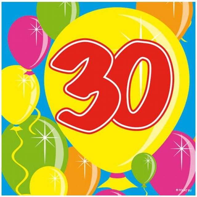 """Serwetki """"30 Balloons"""", 25 cm, Folat, 20 szt"""