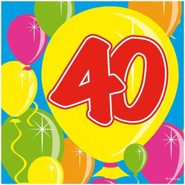 """Serwetki """"40 Balloons"""", 25 cm, Folat, 20 szt"""