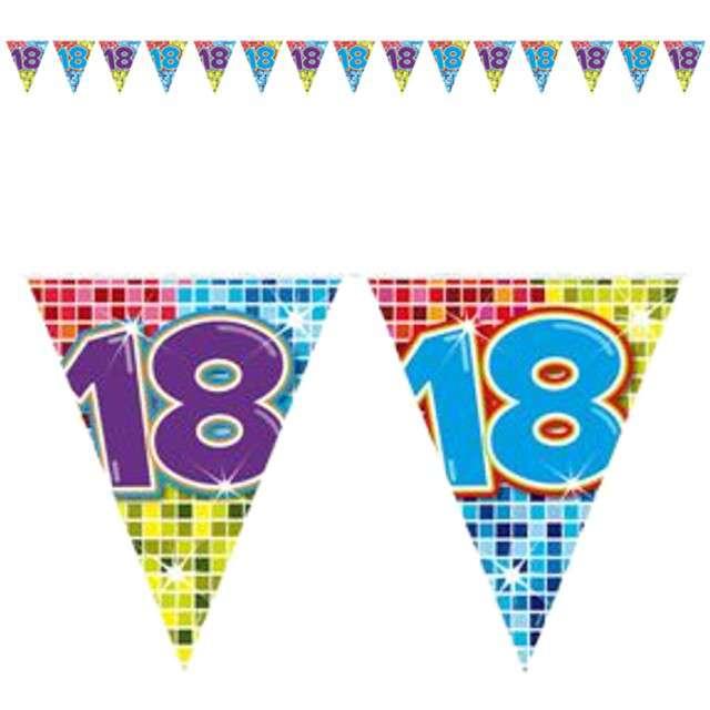 "Baner flagi ""Urodziny  18"", FOLAT, 6 m"