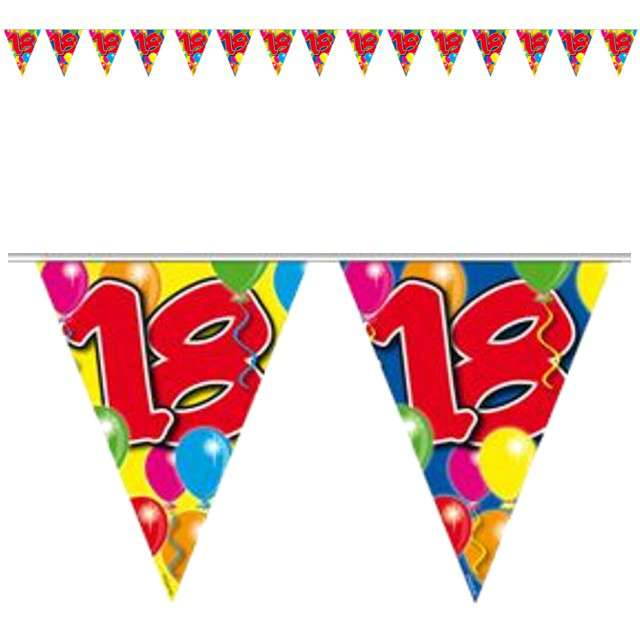 "Baner flagi ""Urodziny 18 - Balony"", FOLAT, 1000 cm"