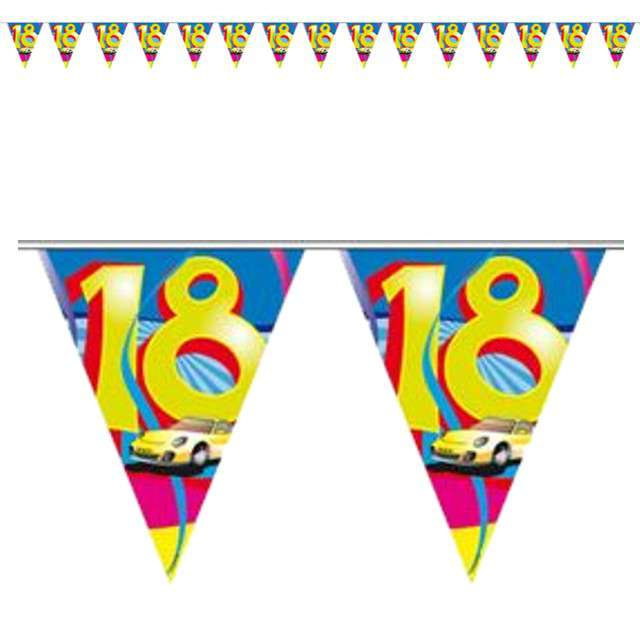 "Baner flagi ""Urodziny 18 - samochód"", FOLAT, 1000 cm"