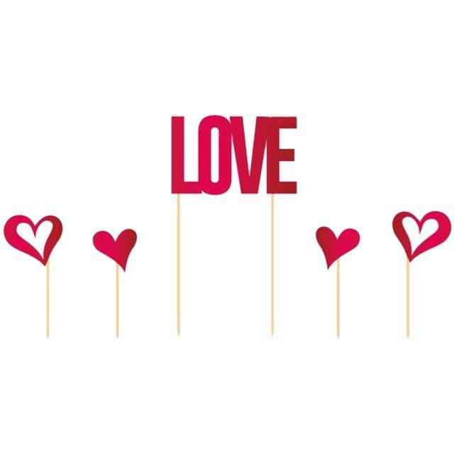 """Szpilki drewniane """"LOVE"""", FOLAT, 5 szt"""