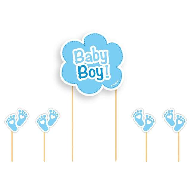 """Szpilki drewniane """"Baby Boy"""", FOLAT, 5 szt"""
