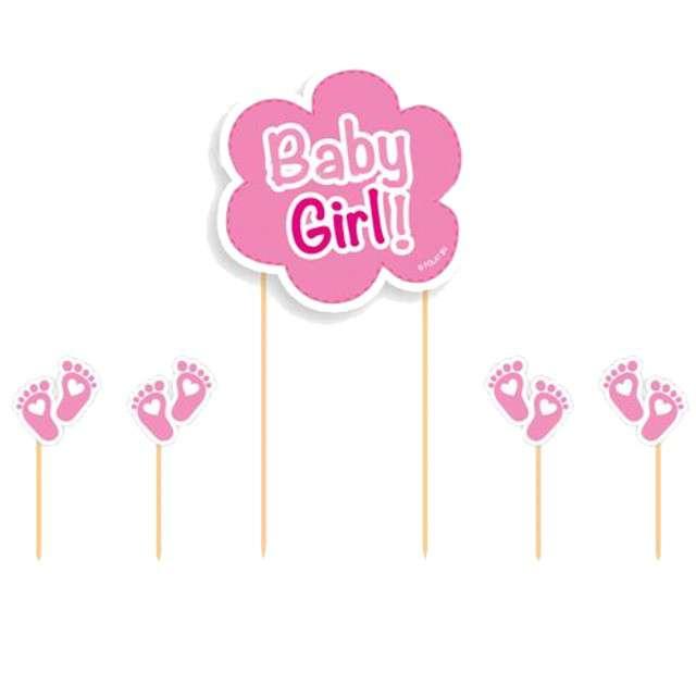 """Szpilki drewniane """"Baby Girl"""", FOLAT, 5 szt"""