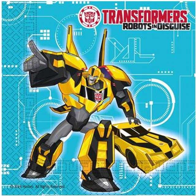 """Serwetki """"Transformers Power"""", rozm. 33 x 33 cm, 20 szt"""