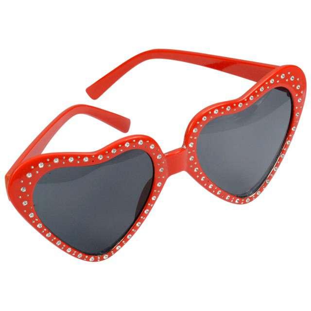 """Okulary party """"Serca"""", czerwone, ARPEX"""