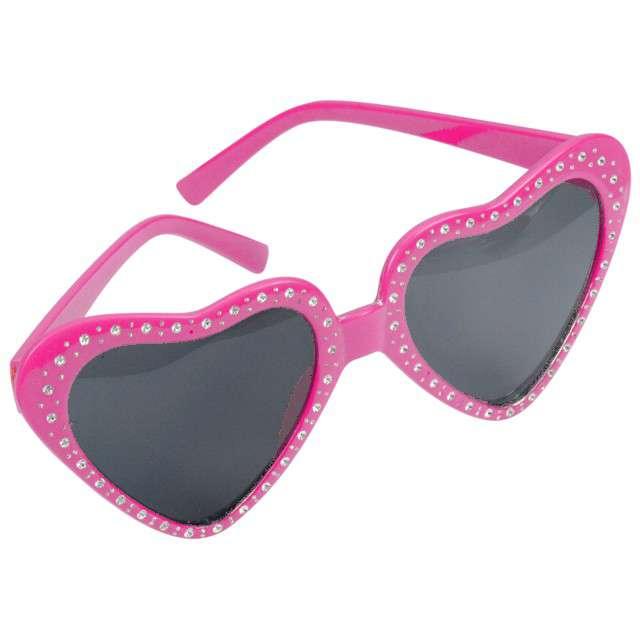 "Okulary party ""Serca"", różowe, ARPEX"