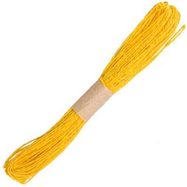 """Sznurek """"Papers Twine"""", żółty, 30 m"""