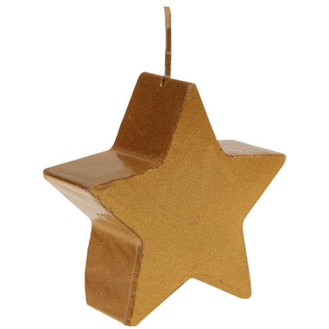 """Świeczka """"Gwiazda Błyszcząca"""", złota, SANTEX, 7x7 cm"""