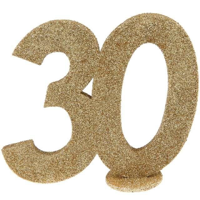 Dekoracja 30 Urodziny SANTEX złota 11cm