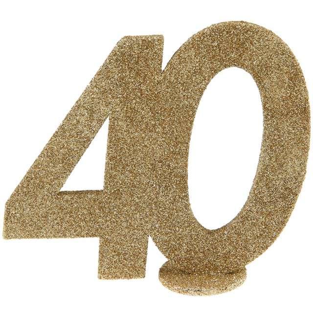 """Dekoracja """"40 Urodziny"""", SANTEX, złota, 11 cm"""