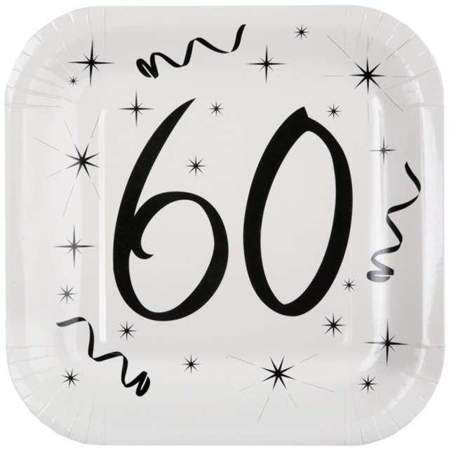 """Talerzyki papierowe """"60 White"""", SANTEX, 23 cm, 10 szt"""