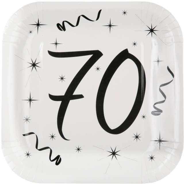 """Talerzyki papierowe """"70 White"""", SANTEX, 23 cm, 10 szt"""
