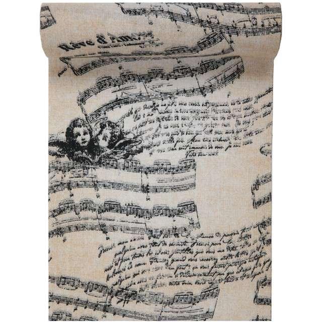 """Bieżnik """"Muzyka Romantyczna, biały"""", SANTEX, 300 x 28 cm"""