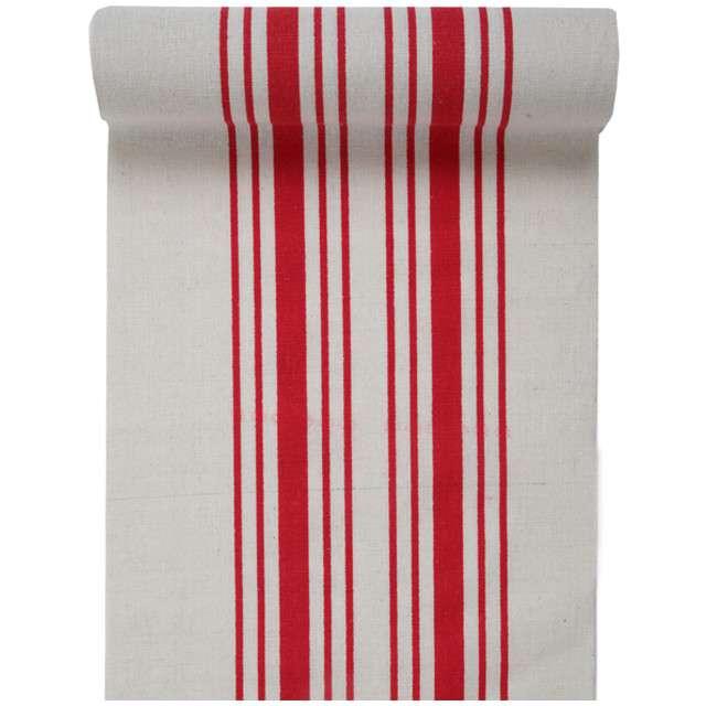 """Bieżnik """"Paski, czerwony"""", SANTEX, 300 x 30 cm"""