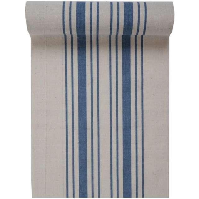 "Bieżnik ""Paski, niebieski"", SANTEX, 300 x 30 cm"