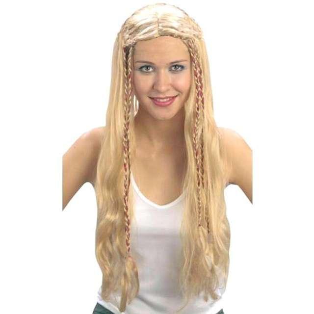 """Peruka party """"Długie Włosy - blond z warkoczykami"""", PartyTino"""