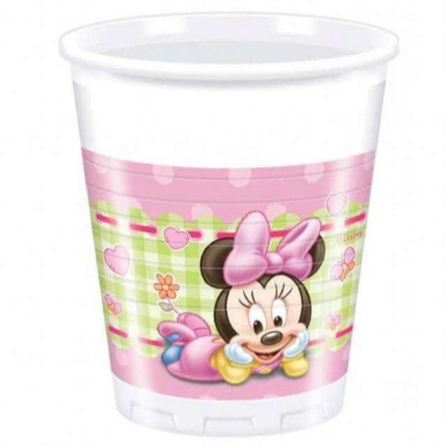 """Kubeczki plastikowe """"Myszka Minnie Baby"""", PROCOS, 200 ml, 8 szt"""