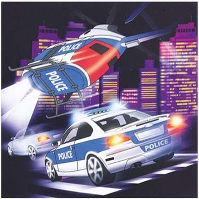 "Serwetki ""Policja"", AMSCAN, 33 cm, 20 szt"