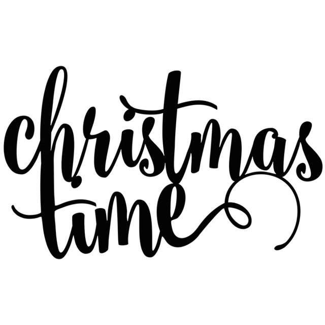 """Dekoracja """"Christmas Time"""", czarna, 17 cm"""