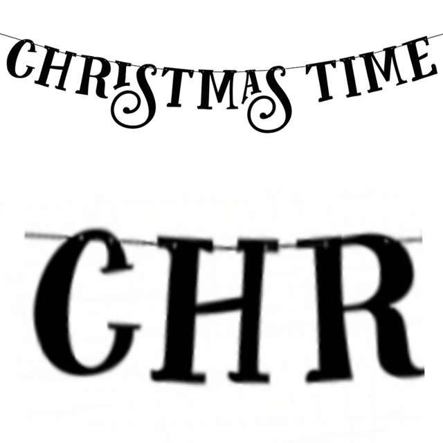 "Baner ""Christmas Time"", czarny, PartyDeco, 80 cm"