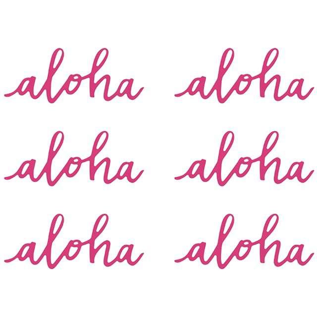 """Dekoracje """"Aloha"""", fuksja, PartyDeco, 6 szt"""