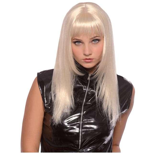 """Peruka party """"Długie Włosy - blond platynowe"""", BOLAND"""