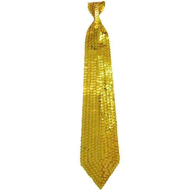 Krawat cekinowy, złoty, ARPEX