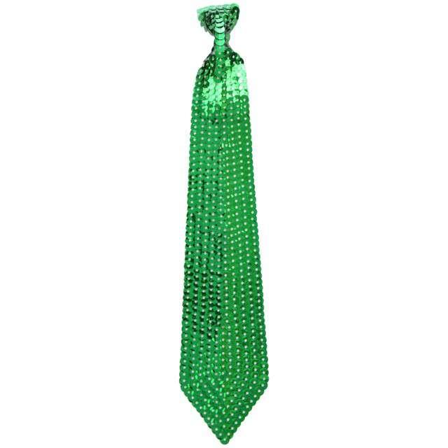 Krawat cekinowy, zielony, ARPEX