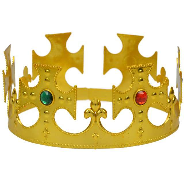 """Korona party """"Król"""", plastikowa, złota, ARPEX"""
