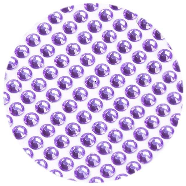 """Dżety samoprzylepne """"Kryształki"""", wrzosowy, 3 mm, 750 szt"""
