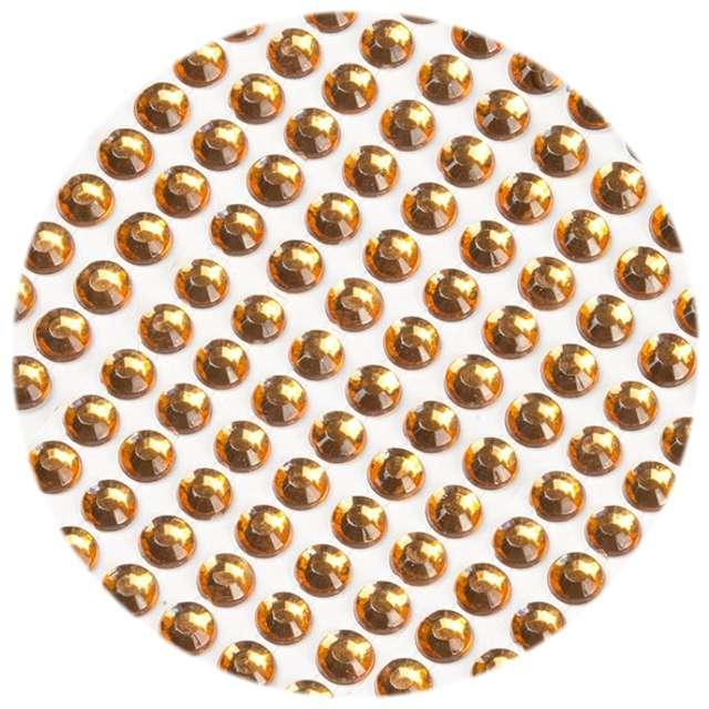 """Dżety samoprzylepne """"Kryształki"""", pomarańczowy, 3 mm, 750 szt"""