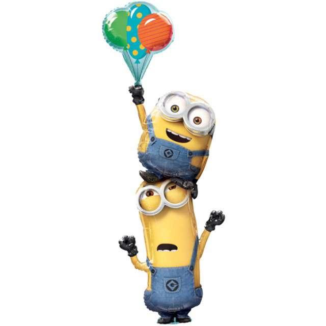 """Balon foliowy """"Minionki z balonami"""", AMSCAN, 60"""" SHP"""