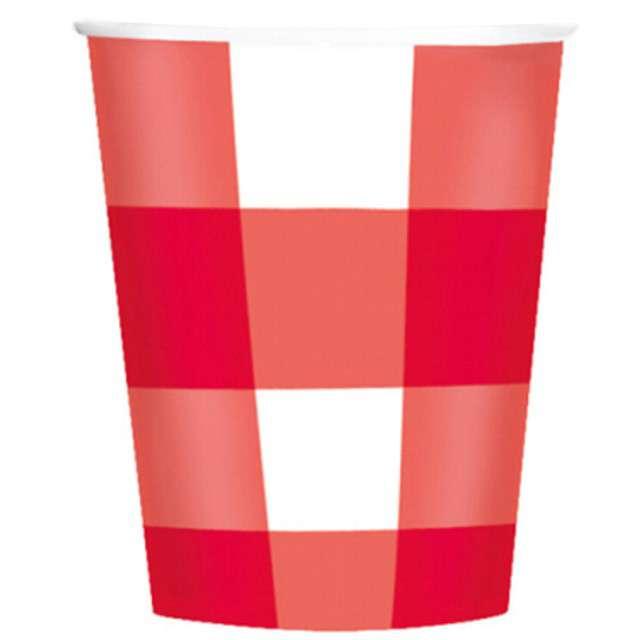 """Kubeczki papierowe """"Piknikowa Krata"""", 226 ml, 8 szt"""