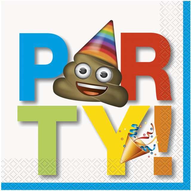"Serwetki ""Emoji Party"", UNIQUE, 33 cm, 20 szt"