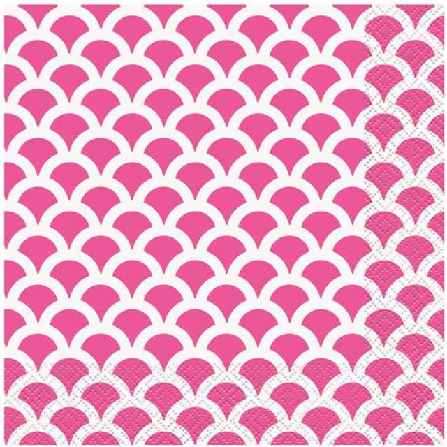 """Serwetki """"Łuski Różowe"""", UNIQUE, 33 cm, 16 szt"""