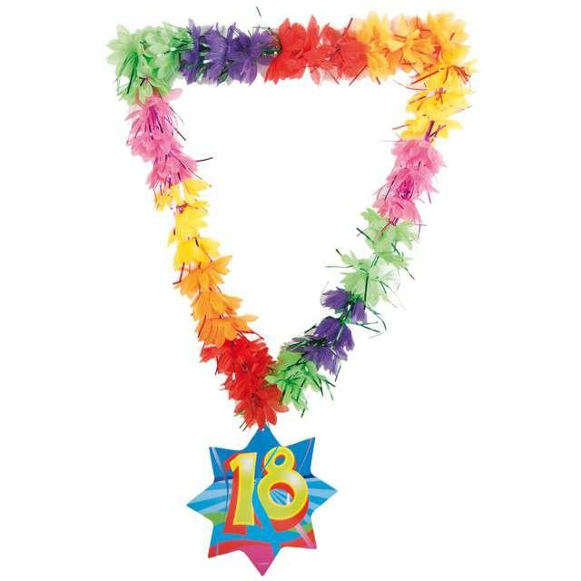"""Naszyjnik Hawajski """"18 Urodziny - Kwiaty"""", FOLAT"""