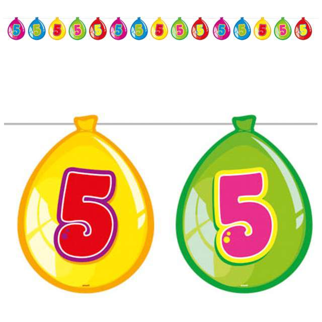 "Baner ""5 urodziny baloniki"", FOLAT, 10 m"