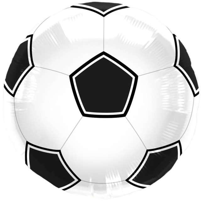 "Balon foliowy ""Piłka Nożna"", czarna, FOLAT, 17"" RND"