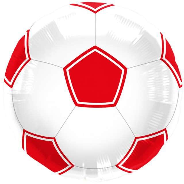 """Balon foliowy """"Piłka Nożna"""", czerwona, FOLAT, 17"""" RND"""