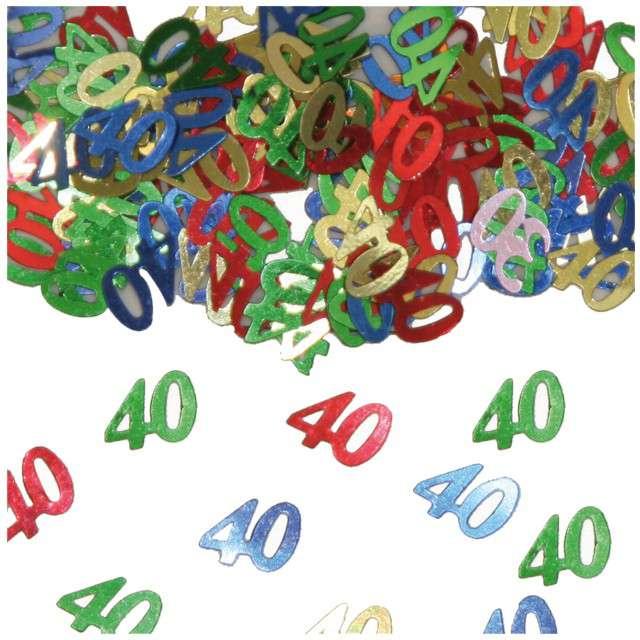 """Konfetti """"40"""", kolorowe mix, FOLAT, 14g"""
