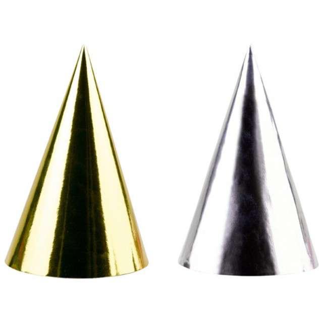 """Czapeczki papierowe """"Luxury"""", metalic, AMSCAN, 4 szt"""