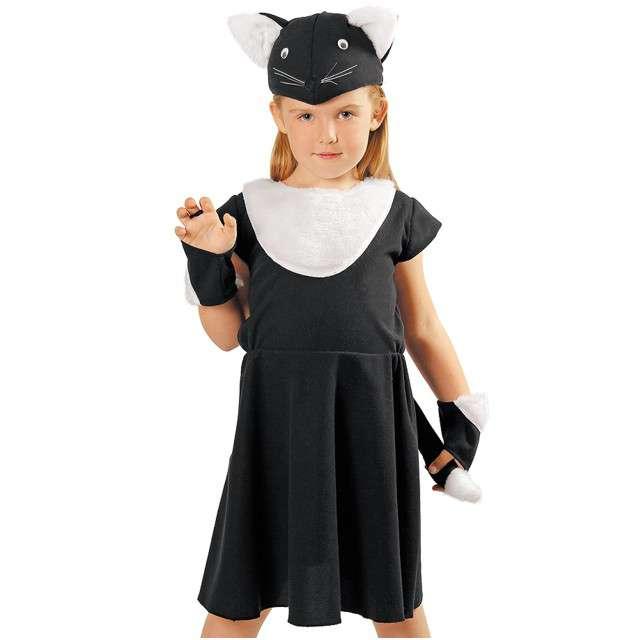 """Strój dla dzieci """"Czarny Kotek - sukienka"""", KRASZEK, rozm. 110/116 cm"""