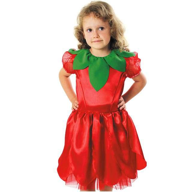 """Strój dla dzieci """"Kwiatek"""", czerwony, KRASZEK, rozm. 98/104 cm"""