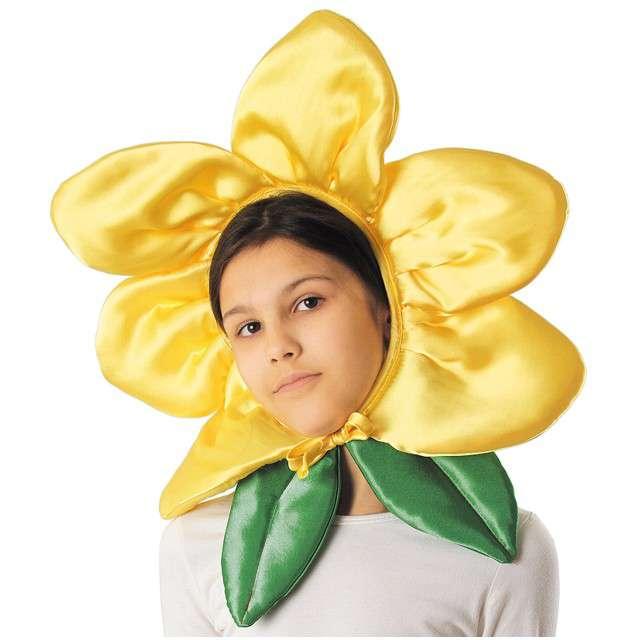 """Czapka """"Kwiatek"""", żółty, KRASZEK"""