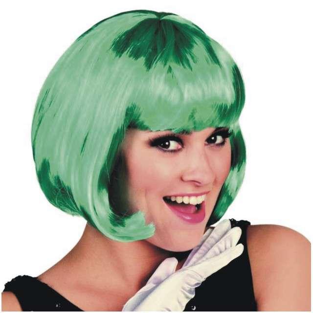 """Peruka party """"Bob z grzywką"""", zielona, Partytino"""