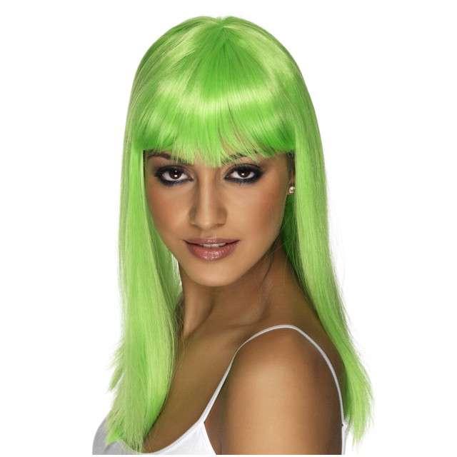"""Peruka party """"Długie Włosy - zielone"""", PartyTino"""