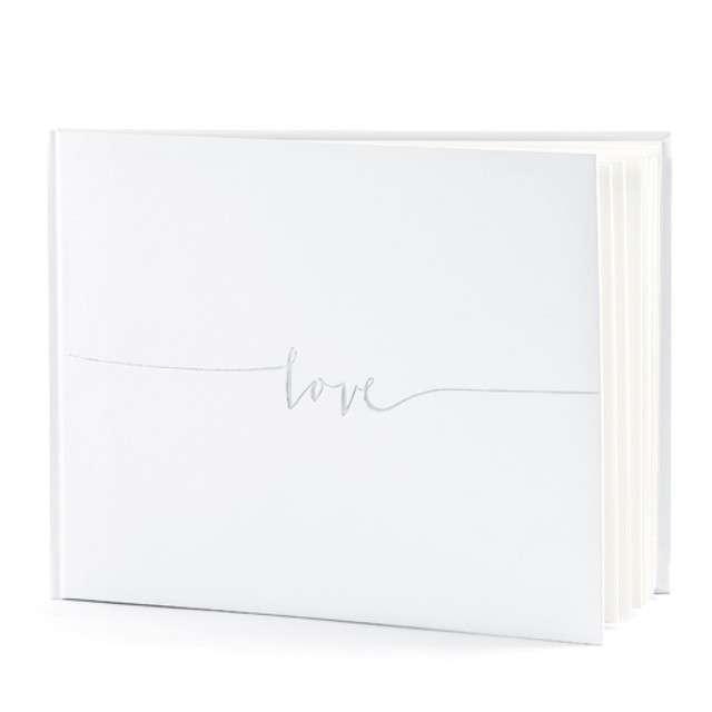 """Księga Gości """"Love"""", PartyDeco, 24 x 18,5 cm, 22 kartki"""