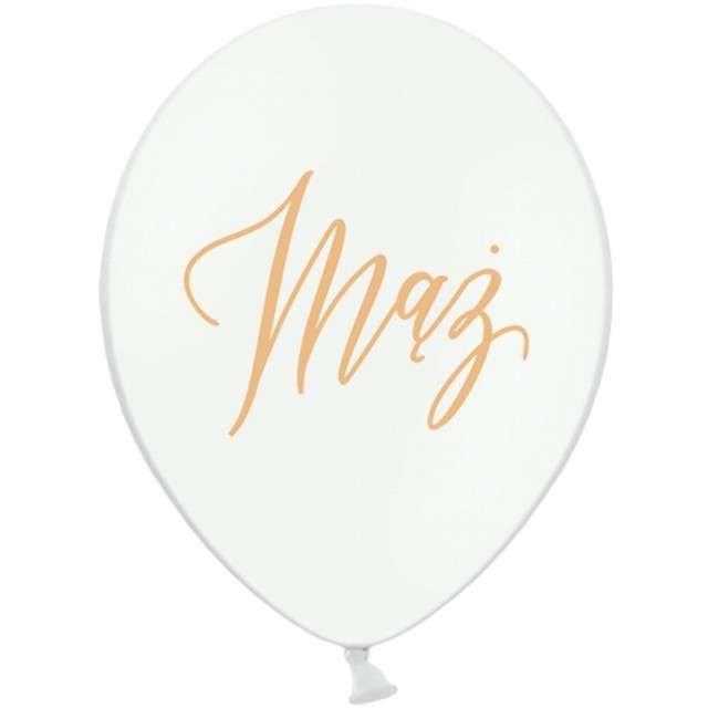 """Balony """"Mąż"""", białe, 12"""" STRONG,  50 szt"""